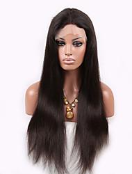 человеческие волосы высокого качества шелковистая прямая Плотность 130% бразильские кружева фронт парик с волосами младенца