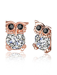 Stud Earrings Jewelry Women Wedding / Party / Daily Alloy / Zircon / Rose Gold Plated 1 pair Rose Gold