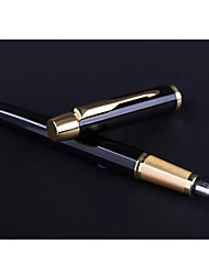 Kugelschreiber Stift Füllfederhalter Stift,Metall Fass Schwarz Tintenfarben For School Supplies Bürobedarf Packung