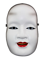 Mask White & Red & Black Resin Cosplay Accessories Halloween / Carnival / New Year