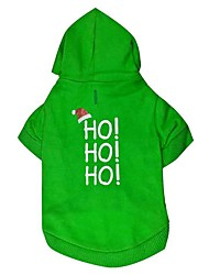 Dog Hoodie Green Dog Clothes Winter / Summer Letter & Number Cute / Fashion / Christmas