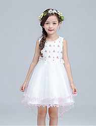 Girl's Casual/Daily Print Dress,Cotton / Rayon Summer / Spring Sleeveless
