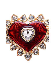 Women Jewelry Alloy Red Brooches 1ps
