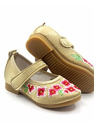 Girl's Flats Spring Fall Mary Jane Fabric Casual Flat Heel Red Silver Gold