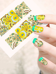 1pcs  Water Transfer Nail Art Stickers Leopard Veins Flower Butterfly Feather  Nail Art Design STZ46-50