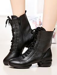 Keine Maßfertigung möglich-Niedriger Heel-Leder-Modern / Tanzschuhe-Damen