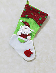 Christmas Toys / Gift Bags Holiday Supplies Santa Suits / Elk / Snowman Textile White / Yellow / Beige All