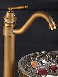 Contemporain Vasque Pivotant with  Soupape céramique Mitigeur un trou for  Bronze antique , Robinet lavabo