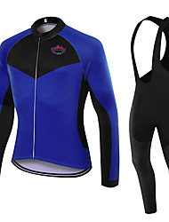 WOLFKEI Spring/Summer/Autumn Long Sleeve Cycling JerseyLong Bib Tights Ropa Ciclismo Cycling Clothing Suits #WK97