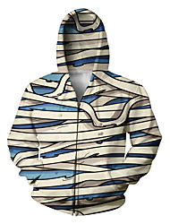 Festival/Holiday Halloween Costumes White & Blue Print Christmas Unisex Polyester