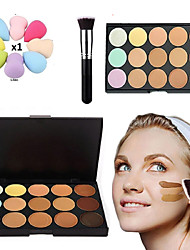 ConcelerPalette 15 Colors Kit Fix Contour Cream Brush Face Makeup Hide It