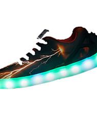 Коричневый-Женский-Для прогулок-ПолиуретанУдобная обувь-Спортивная обувь