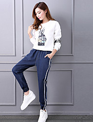 Sign denim trousers loose harem pants collapse was thin elastic waist pants feet trousers new fashion tide