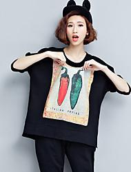 Pimenta dois grossas de algodão t-shirt grande lazer david yui