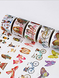 5PCS DIY Decorative Tape Masking Adhesive Tape Scrapbooking Diary Wall Decorative stickers 8M