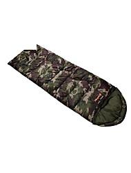 Schlafsack Rechteckiger Schlafsack Einzelbett(150 x 200 cm) -15-20 Hohlbaumwolle T/C Baumwolle 300g 195X75Wandern Camping Reisen Jagd