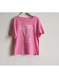 Girl Casual/Daily Solid Tee,Rayon Summer Long Sleeve Regular