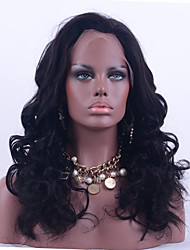 Grade 9A Brazilian Virgin Hair Lace Front Wig Loose Wave Natural Black 130% Density Lace Human Hair Wig 10-26 Inch For Black Woman