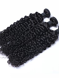 3 Pieces Kinky Curly Human Hair Weaves Brazilian Texture 300g Human Hair Extensions