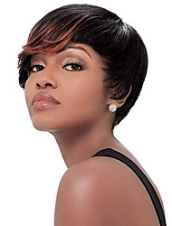 Hot Selling Black To Brown Color Synthetic Daily Wigs Short Curly Wigs