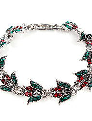 Bracelet Chain Bracelet Rhinestone Leaf Fashion Daily Jewelry Gift Gold Silver,1pc