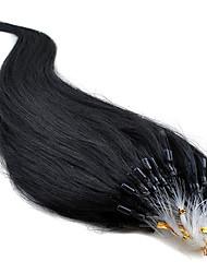 """16 """"-24"""" бразильские волосы 100s человека микро цикл наращивания волос прямые волосы # 1b, # 2, # 8, # 33, # 613 в акции"""