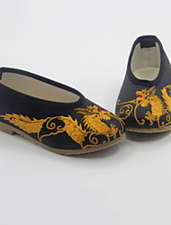 Boy's Loafers & Slip-Ons Spring Fall Comfort Silk Casual Flat Heel Black Red Gray Coffee Earth Yellow Royal Blue