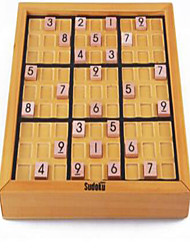 Board Game / Chess Game / Educational Toy Leisure Hobby Square Wood Khaki For Boys / For Girls