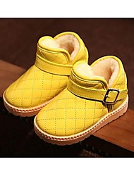 Kids' Girls' Baby Boots Comfort Synthetic Casual Comfort Black Yellow Peach Flat