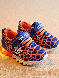 Garçon-Extérieure Sport-Orange Pêche Bleu-Talon PlatChaussures d'Athlétisme-Similicuir