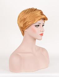 perruque synthétique daliy perruques cosplay perruques de mode droite couleur blond président américain