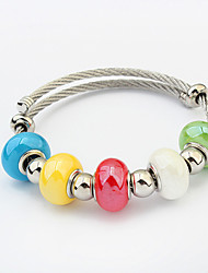 Fashion Candy Beaded Charm Bracelet Alloy Gift Jewelry Gift Red / Blue1pc
