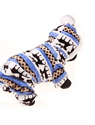 Dog Hoodie Clothes/Jumpsuit Dog Clothes Keep Warm Sports Floral / Botanical Blue