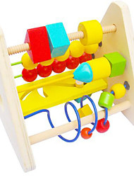 Stress Relievers / Educational Toy For Gift  Building Blocks Circular / Square Wood 2 to 4 Years / 5 to 7 Years Rainbow Toys