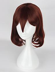 Pelucas de Cosplay Cosplay Cosplay Marrón Corto Animé Pelucas de Cosplay 40cm CM Fibra resistente al calor Mujer