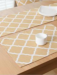 Carré Impression / Avec motifs / Vichy Sets de table , Coton mélangé Matériel Hôtel Dining Table / Tableau Dceoration