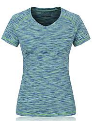 Course / Running Vêtements de Compression/Sous maillot / Tee-shirt Femme Manches courtesRespirable / Séchage rapide / Compression /