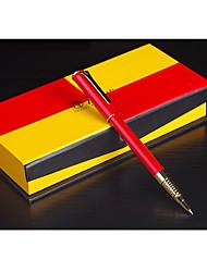 Red 988 Elite Office Calligraphy Iridium Gold Ink Steel Pen