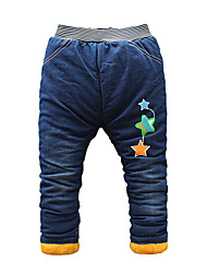 Boy's Cotton Fashion Cartoon Print Spring/Fall/Winter Going out/Casual/Daily Warm Children Heavy Padded Pants