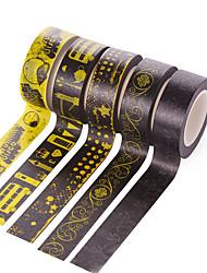 4PCS DIY Decorative Tape Masking Adhesive Tape Scrapbooking Diary Wall Decorative stickers 10M