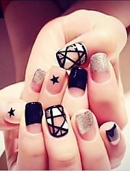 24 PC pieza de palo de manicura producto terminado uñas postizas herramientas de manicura de la novia del clavo las uñas