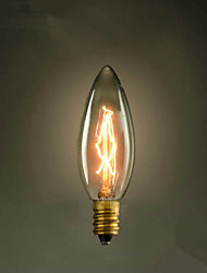 e14 25w pointe c35 de brûlure de la lumière 220v ampoule Edison jaune petite lo lo  source de lumière