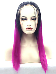 Synthetic Lace Front Wigs Black Roots Purple Ombre Synthetic Wigs Cosplay Wigs
