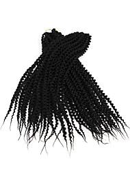 Île Twist Pré-boucle Tresses crochet Extensions de cheveux 22 Kanekalon 24 Brin 85g gramme Braids Hair