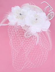 Women's Tulle / Imitation Pearl / Fabric / Net Headpiece-Wedding / Special Occasion / CasualFascinators / Flowers / Wreaths / Birdcage
