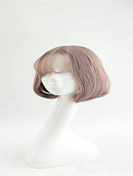 New Short Bob Wigs Synthetic SSilky Straight Hair Korean air bang