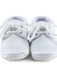 Boy's Baby Flats Spring Summer Fall First Walkers Crib Shoes Stretch Satin Wedding Dress Casual Party & Evening Ivory