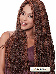 new fashion deep twist crochet braiding hairstyle jet black 24'' 80 roots/pack best quality deep curly cheap synthetic crochet braid kinky curly