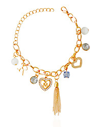 Bracelet Charm Bracelet Alloy / Rhinestone Birthday / Party / Casual Jewelry Gift Multi Color,1pc