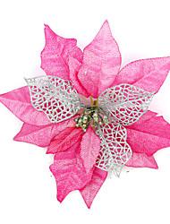 Рождественский декор Товары для Рождественской вечеринки Товары для отпуска 2Pcs Рождество Текстиль Оранжевый